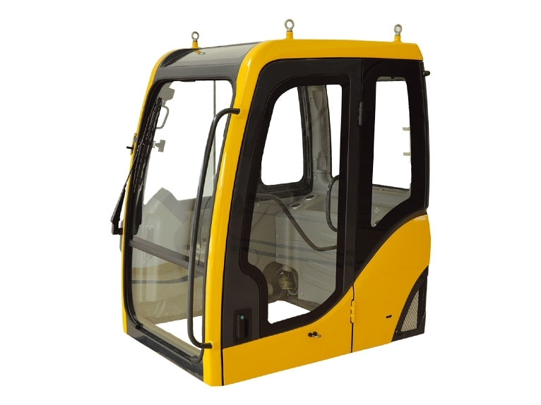 What are the ways to maintain the excavator cab?