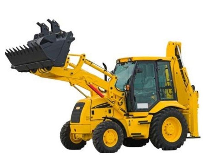 工程机械推土挖掘机处于运输送工况时